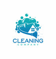 cleaning company logo design vector image