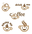 coffee drink me emblem vector image