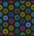 color celebration fireworks background pattern vector image vector image