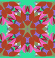 colored pattern on a orange green and pink colors vector image vector image