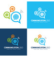 communication globes icon and logo vector image vector image