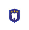dental insurance protection flat icon vector image vector image