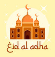 eid al adha islamic festival background flat vector image
