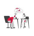 emotional burnout hard work business man vector image vector image