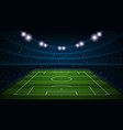 empty football field arenal stadium vector image vector image