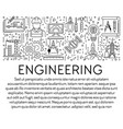 engineering banner template with graphic linear vector image vector image