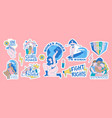 feminist and body positive stickers set collection vector image