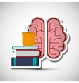 Flat about brain design vector image vector image