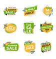 flat design origami summer sale labels 4 vector image vector image