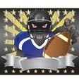 footballer player blue tshirt6 vector image vector image