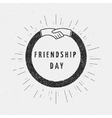 Friendship day badges logos and labels for any use vector image