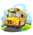funny school bus vector image