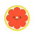 grapefruit icon flat vector image vector image