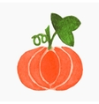 Hand-drawn pumpkin Real watercolor drawing vector image