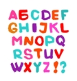 Hand written font English alphabet on white vector image