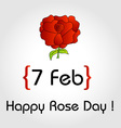 Happy Rose day card for february 7th