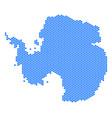Hex tile antarctica map