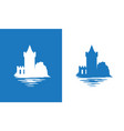 icon with european medieval falkirk castle in vector image