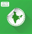 india sticker map icon business concept india vector image
