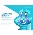 isometric 3d people learning and working vector image