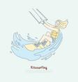 kitesurfing fan enjoying vacations female surfer vector image vector image