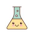 laboratory tube test kawaii character vector image