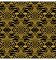 Lacing geometric ornament in art deco style vector image vector image