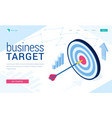 landing page business target vector image