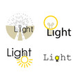 light logo icon set cartoon style vector image