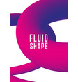 liquid fluid shape cover design modern vector image vector image