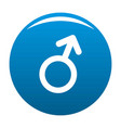 male gender symbol icon blue vector image vector image