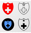 medical shield eps icon with contour vector image