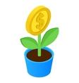 Money tree isometric icon vector image vector image