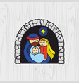 nativity of jesus christ vector image vector image