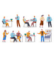 office workers collection working characters vector image