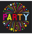 party firework vector image vector image