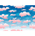 pink clouds and gulls seamless pattern vector image