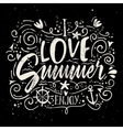 Print for T-shirt I love summer vector image