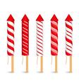 Red Firework Rockets vector image