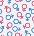 seamless pattern gender icons wallpaper male vector image