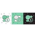 set job promotion exchange money icon isolated on vector image vector image