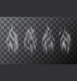 set of delicate realistic cigarette smoke waves vector image vector image