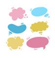 set speech bubbles different colours vector image