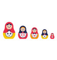 set traditional nesting doll simple colorful vector image vector image