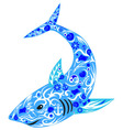 shark blue vector image vector image