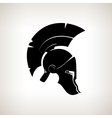 Silhouette helmet on a light background vector image vector image