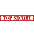 Stamp top secret vector image