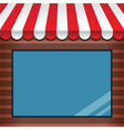 storefront with awning vector image vector image