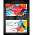 stylish grunge business card template vector image vector image