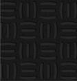 Textured black plastic three holes pin will vector image vector image